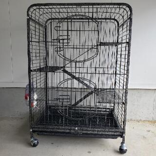 小動物用 4階建て鉄製ケージ &おでかけバッグ&食事セット