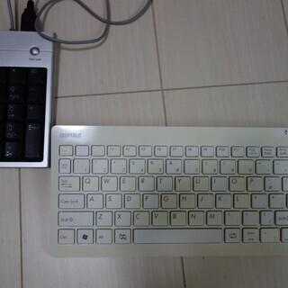 BUFFALOの外付けキーボードタップと、おまけの外付けUSBテンキー