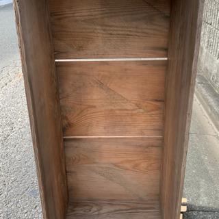 さらにお値下げしました! BOX 古い棚 骨董 古木 無垢 蔵出...