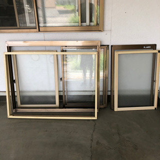 窓 2重サッシ網戸付き DIY