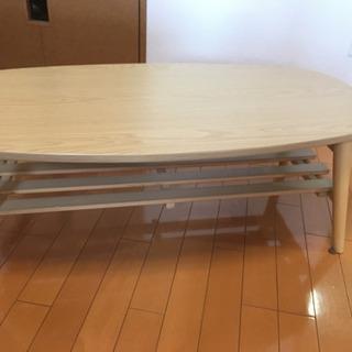 【要引取】 木目調ローテーブル ニトリ