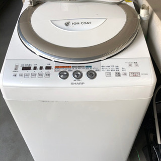 【無料で譲ります】シャープ 洗濯機 縦型