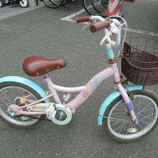 訳アリ特価 子供用自転車 16インチ パステルカラー ピンク×グ...