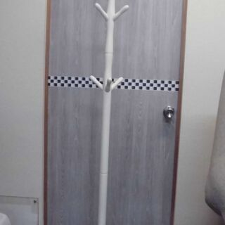 JM7718)ポールハンガー (ホワイト)幅:約45cm 高さ:...