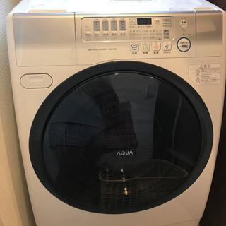 ドラム式洗濯機 AQUA AQW-D500-R(W) 8/19引...