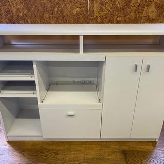 0813-10 キッチン収納棚 変形 キッチンカウンター