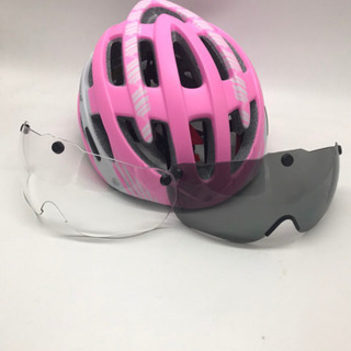 サイクリングヘルメット ピンク