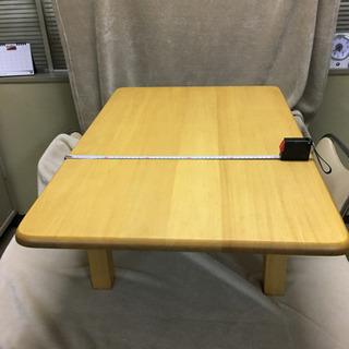 折り畳み座卓 パイン材 60x89xH29(足を畳むと7.5cm)2台