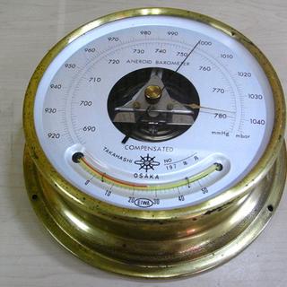アネロイド バロメーター 気圧計 TAKAHASHI OS…