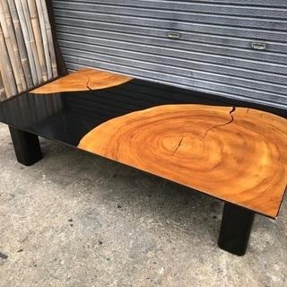 九州 松岡漆工 5尺 楠 輪切り 座卓 座敷机 現代家具 和風 ...