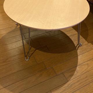 【0円】折りたたみ式円形ローテーブル(ニトリ)