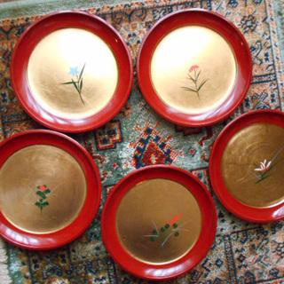 茶托 金沢 金箔 5枚 工芸品