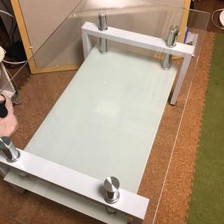 ガラス ローテーブル 机