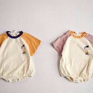 チャーリーブラウン ロンパース 韓国ベビー服