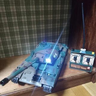 ラジコン BB弾バトルタンク ウエザリング仕様 陸上自衛隊74式 戦車