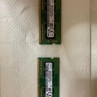 SAM SUNG DDR4 (PC4-2666V)4GB x 2...