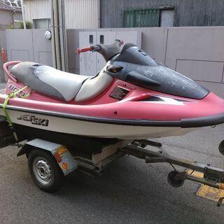 軽トレーラーとKawasaki1100STX ジェットスキー水上バイク