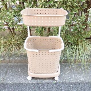【無料で差し上げます】ランドリーバスケット 2段 洗濯かご 洗濯...