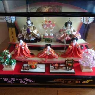 ひな人形 三人官女 ガラスケース