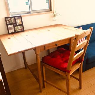 IKEA 引き出し付折りたたみテーブル&チェア セット