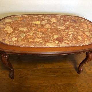 大理石 高級 猫脚 センターテーブル