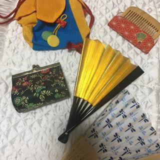 【ネット決済・配送可】浴衣 小物 和装 扇子 うちわ 竹櫛 コイ...