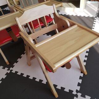園児用椅子 テーブル付 保育園・幼稚園仕様(未使用)