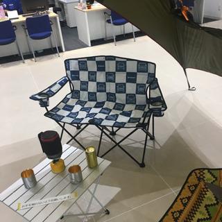 野外 キャンプ 2人がけチェア - 家具