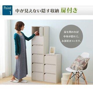 ④カラーボックス 扉付き おしゃれ 安い 収納ボックス 収納 目...
