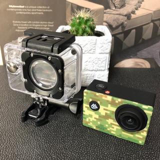 防水 アクティブギア フル HD カメラ カモフラージュ アクシ...