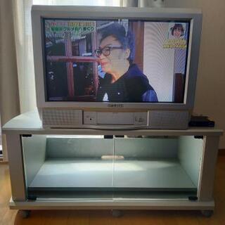 【地デジOK】28型ブラウン管テレビ【台付】