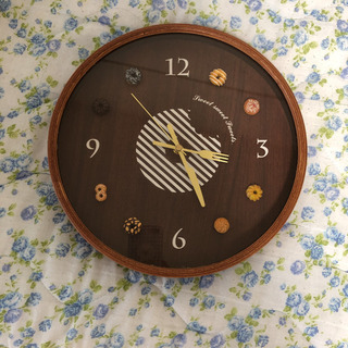 ドーナツ壁掛け時計