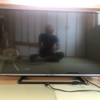 Panasonic VIERA TH-50AS6300 2014年製 ハイビジョン液晶テレビ リモコン、説明書有り 液晶割れ有 動作OK ジャンク品