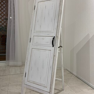スタンドミラー/ドア付 姿見鏡【取りに来る方限定】