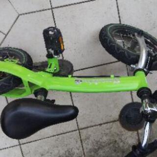 【黄緑色】へんしんバイク 美品