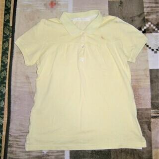 薄黄色のポロシャツ、フリーサイズ