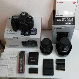 レンズ2個付き Canon EOS 80D(W) キャノン カメラ