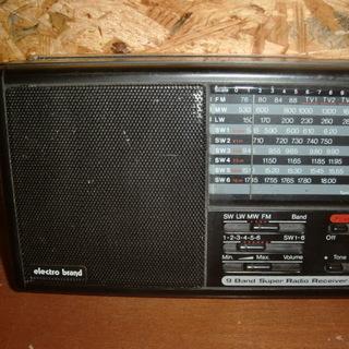 激レア!9 BRAND super radio receiver...
