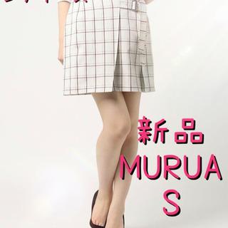 レディース MURUAムルーアチェック柄ミニスカートS