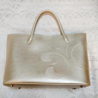 HANAE MORI ゴールドハンドバッグ