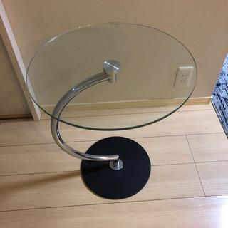 丸テーブル、ガラス