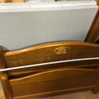 【受付中、早期なら値段相談可】シングルベッド ユノメ家具