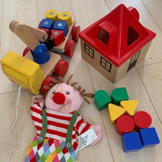 IKEA おもちゃ 車 三点セット クレーン車 ブロック