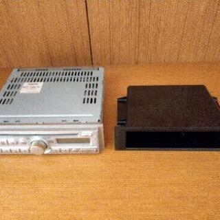SANYO CD/FM/AMカーステレオ 収納ボックス付き