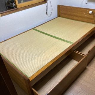畳みベッド 引き出し収納付き