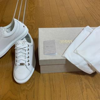 JIMMY CHOO ジミーチュウ スニーカー 白 27.5cm...