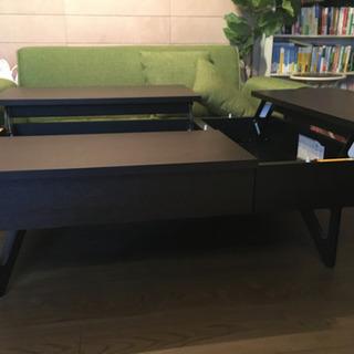 [再値引き]収納付き センターテーブル[美品] - 家具