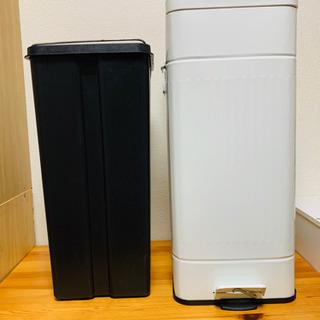 【決まりました】ペダル開閉式ゴミ箱 30L ダストボックス レトロや北欧インテリアに - 家具