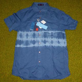 【未使用】 青い 半袖シャツ Mサイズ 4,190円の品【手渡し...