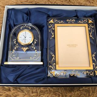ミキモト真珠 写真たて&時計 新品